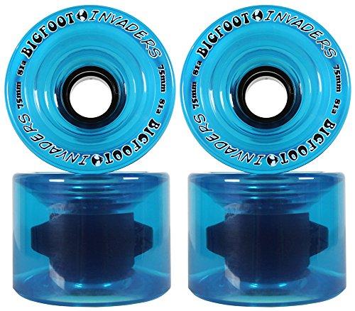 ウィール タイヤ スケボー スケートボード 海外モデル DECK BIGFOOT LONGBOARD WHEELS 75mm 81a INVADERS BLUE Offset Downhill / Freerideウィール タイヤ スケボー スケートボード 海外モデル DECK