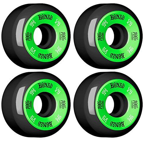 ウィール タイヤ スケボー スケートボード 海外モデル DECK BONES Skateboard WHEELS 100s 54mm 黒 SKATEBOARDウィール タイヤ スケボー スケートボード 海外モデル DECK