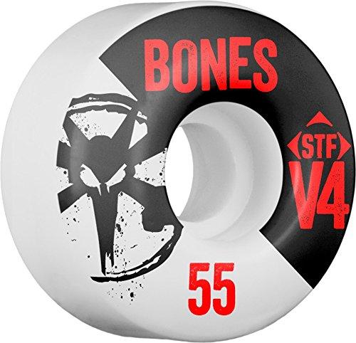 ウィール タイヤ スケボー スケートボード 海外モデル Bones STF V4 Series Skateboard Wheels - White - 55mm 83b (Set of 4)ウィール タイヤ スケボー スケートボード 海外モデル