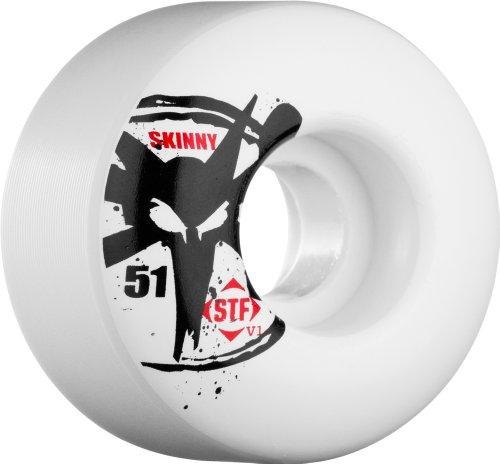 ウィール タイヤ スケボー スケートボード 海外モデル WSCATV15303W4 Bones Wheels Skinny Bones Skateboard Wheels (53-mm, White)ウィール タイヤ スケボー スケートボード 海外モデル WSCATV15303W4