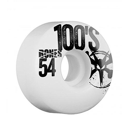 ウィール タイヤ スケボー スケートボード 海外モデル DECK Bones 54mm 100's Color Wheels (White)ウィール タイヤ スケボー スケートボード 海外モデル DECK