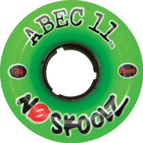 ウィール タイヤ スケボー スケートボード 海外モデル Abec 11 NoSkoolZ Green Longboard Wheels - 60mm 78a (Set of 4)ウィール タイヤ スケボー スケートボード 海外モデル