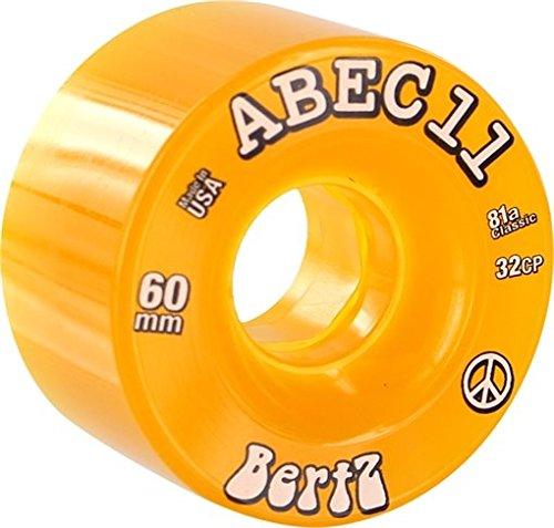 ウィール タイヤ スケボー スケートボード 海外モデル ABEC 11 Bertz Amber Skateboard Wheels - 60mm 81a (Set of 4)ウィール タイヤ スケボー スケートボード 海外モデル