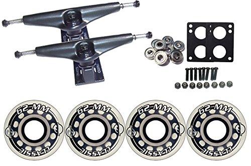 ウィール タイヤ スケボー スケートボード 海外モデル TGM Skateboards KRYPTONICS Classic Truck Wheel Pack 62mm Clear Core 7.0 Blackウィール タイヤ スケボー スケートボード 海外モデル