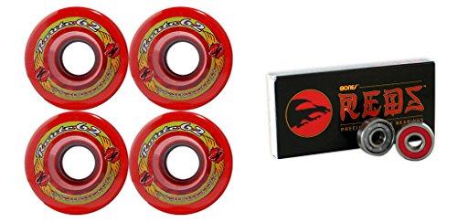 ウィール タイヤ スケボー スケートボード 海外モデル TGM Skateboards KRYPTONICS Route 62MM 78A RED Longboard Skate Wheels + Bones Reds Bearingsウィール タイヤ スケボー スケートボード 海外モデル