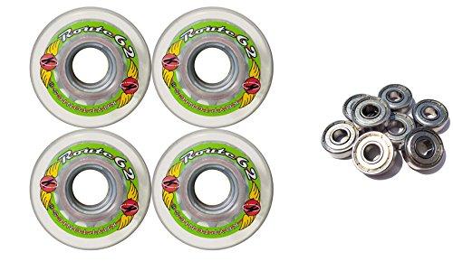 ウィール タイヤ スケボー スケートボード 海外モデル TGM Skateboards KRYPTONICS Route 62MM 78A Clear Longboard Skate Wheels + ABEC 9 Bearingsウィール タイヤ スケボー スケートボード 海外モデル