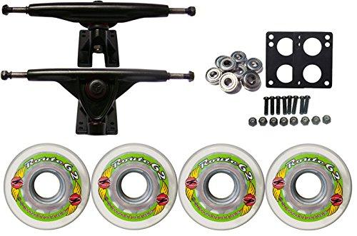 ウィール タイヤ スケボー スケートボード 海外モデル TGM Skateboards KRYPTONICS Route Truck Wheel Pack 62mm Clear 180mm Rawウィール タイヤ スケボー スケートボード 海外モデル