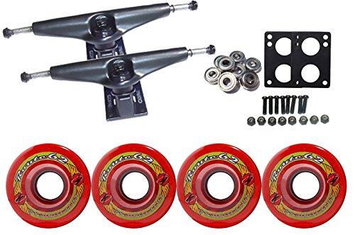 ウィール タイヤ スケボー スケートボード 海外モデル TGM Skateboards KRYPTONICS Route Truck Wheel Pack 62mm RED Core 6.0 Blackウィール タイヤ スケボー スケートボード 海外モデル