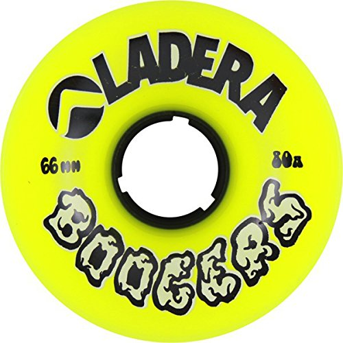 ウィール タイヤ スケボー スケートボード 海外モデル Ladera Skateboards Boogers Yellow Longboard Skateboard Wheels - 63mm 80a (Set of 4)ウィール タイヤ スケボー スケートボード 海外モデル
