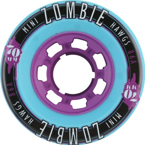 ウィール タイヤ スケボー スケートボード 海外モデル DECK Hawgs Wheels Mini Zombie Teal Skateboard Wheels - 70mm 86a (Set of 4)ウィール タイヤ スケボー スケートボード 海外モデル DECK
