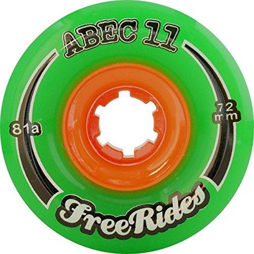ウィール タイヤ スケボー スケートボード 海外モデル ABEC 11 Freeride Centerset Green Skateboard Wheels - 72mm 81a (Set of 4)ウィール タイヤ スケボー スケートボード 海外モデル