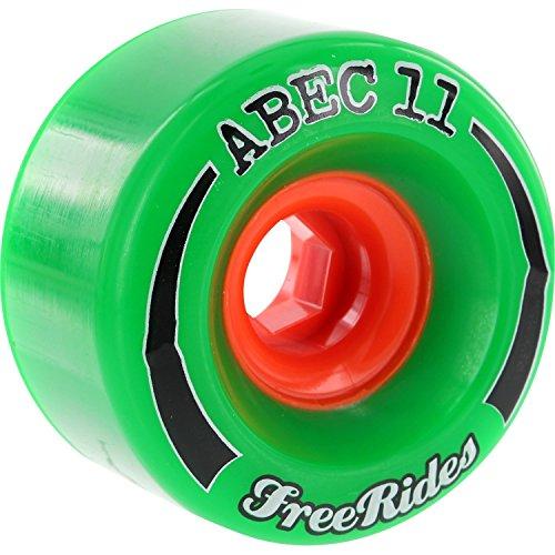 ウィール タイヤ スケボー スケートボード 海外モデル ABEC 11 FreeRides Green Skateboard Wheels - 72mm 84a (Set of 4)ウィール タイヤ スケボー スケートボード 海外モデル