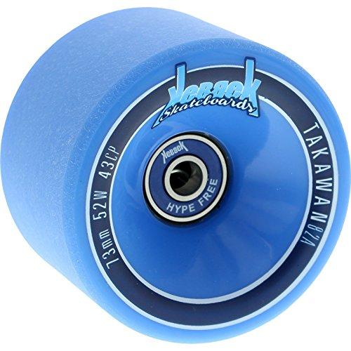 ウィール タイヤ スケボー スケートボード 海外モデル Kebbek Takawan 73mm 82a Blue W/No Hype Bearings Longboard Wheels (Set of 4)ウィール タイヤ スケボー スケートボード 海外モデル