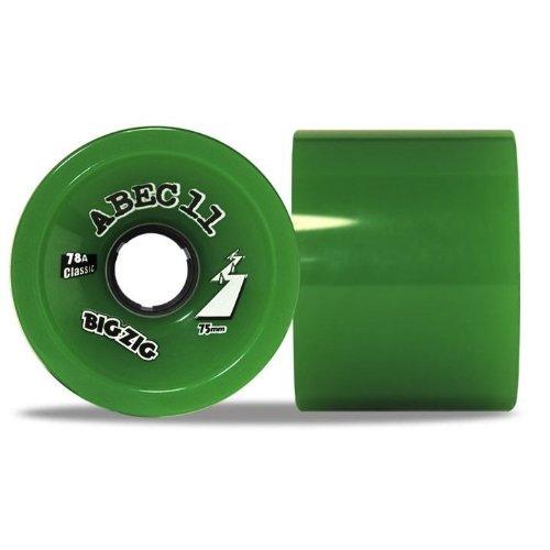 ウィール タイヤ スケボー スケートボード 海外モデル Abec 11 Classic BigZigs 75mm Green Longboard Wheels (Set of 4)ウィール タイヤ スケボー スケートボード 海外モデル