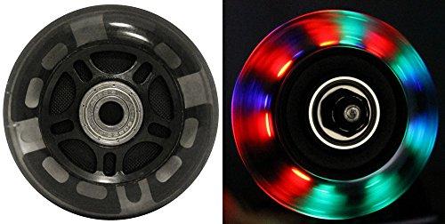 ウィール タイヤ スケボー スケートボード 海外モデル DECK LED Inline Wheels 76mm 82a Skate Rollerblade Light UP 8-Pack w/ABEC 9 Bearingsウィール タイヤ スケボー スケートボード 海外モデル DECK