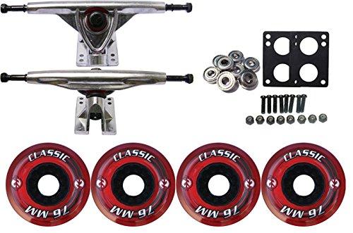 ウィール タイヤ スケボー スケートボード 海外モデル TGM Skateboards KRYPTONICS Classic Truck Wheel Pack 76mm RED 180mm Rawウィール タイヤ スケボー スケートボード 海外モデル