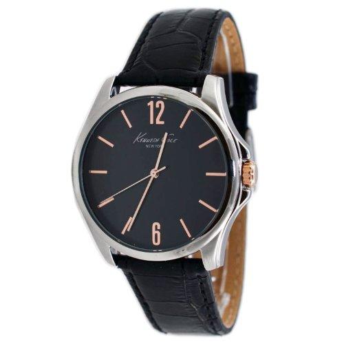 腕時計 ケネスコール・ニューヨーク Kenneth Cole New York メンズ 【送料無料】Kenneth Cole New York Three-Hand Leather - Black Men's watch #KCW1041腕時計 ケネスコール・ニューヨーク Kenneth Cole New York メンズ