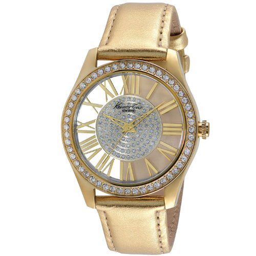 ケネスコール・ニューヨーク Kenneth Cole New York 腕時計 レディース 【送料無料】Kenneth Cole Women's Gold-Tone Steel See Thru Watch Leather Band KC2828ケネスコール・ニューヨーク Kenneth Cole New York 腕時計 レディース