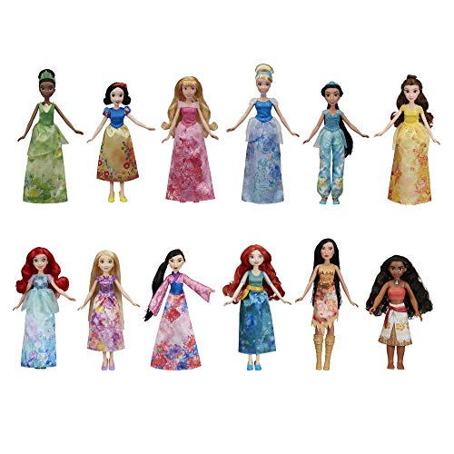 メリダとおそろしの森 メリダ ブレイブ ディズニープリンセス 【送料無料】Disney Princess Royal Collection, 12 Fashion Dolls -- Ariel, Aurora, Belle, Cinderella, Jasmine, Merida, Moana, Mulaメリダとおそろしの森 メリダ ブレイブ ディズニープリンセス