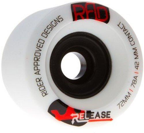 ウィール タイヤ スケボー スケートボード 海外モデル DECK RAD Rider Approved Designs Release 72mm 78a White Longboard Skateboard Wheels Set of 4ウィール タイヤ スケボー スケートボード 海外モデル DECK