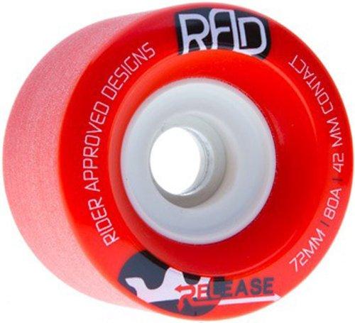 ウィール タイヤ スケボー スケートボード 海外モデル DECK RAD Rider Approved Designs Release 72mm 80a Red Longboard Skateboard Wheels Set of 4ウィール タイヤ スケボー スケートボード 海外モデル DECK