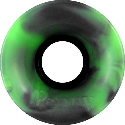 ウィール タイヤ スケボー スケートボード 海外モデル DECK Penny 59mm Green/Black Swirl Skateboard Wheels (Set Of 4)ウィール タイヤ スケボー スケートボード 海外モデル DECK