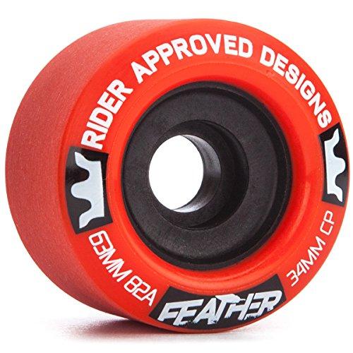 ウィール タイヤ スケボー スケートボード 海外モデル RAD Feather Longboard Wheels - 63mm 82aウィール タイヤ スケボー スケートボード 海外モデル
