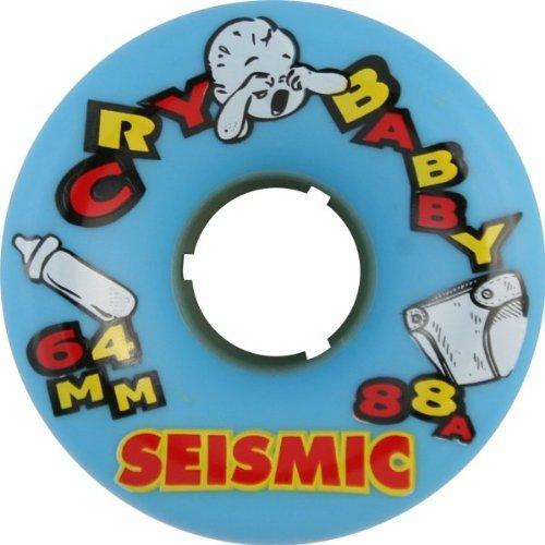 ウィール タイヤ スケボー スケートボード 海外モデル Seismic Cry Baby 64mm 88A Blue Skateboard Wheels (Set of 4)ウィール タイヤ スケボー スケートボード 海外モデル