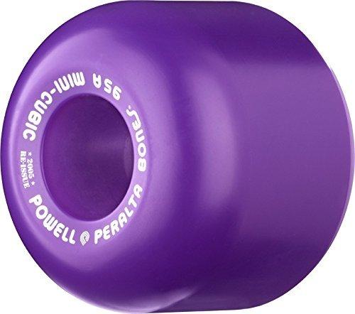 ウィール タイヤ スケボー スケートボード 海外モデル Powell Peralta Mini-Cubic Skateboard Wheels 64mm 95a - Purple (Set of 4)ウィール タイヤ スケボー スケートボード 海外モデル