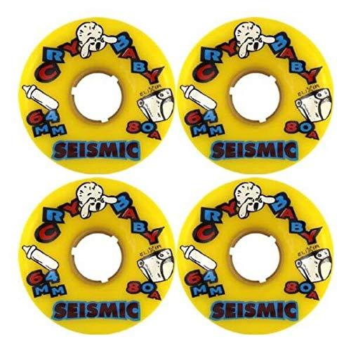 ウィール タイヤ スケボー スケートボード 海外モデル Seismic Skate Systems Cry Baby Yellow Skateboard Wheels - 64mm 80a (Set of 4)ウィール タイヤ スケボー スケートボード 海外モデル