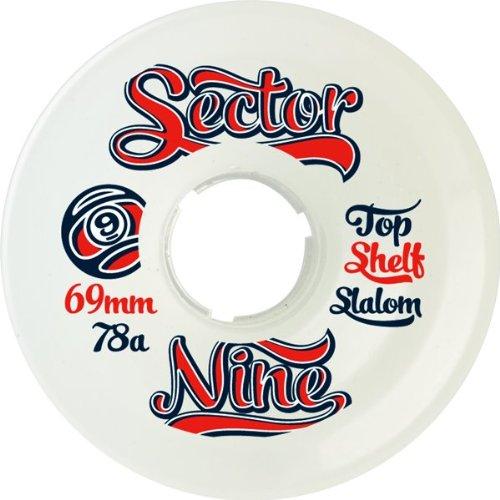ウィール タイヤ スケボー スケートボード 海外モデル Sector 9 9ball Topshelf Slalom 69mm White 78a Skateboard Wheels (Set of 4)ウィール タイヤ スケボー スケートボード 海外モデル