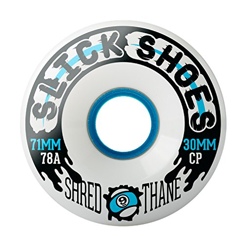 ウィール タイヤ スケボー スケートボード 海外モデル 【送料無料】Sector 9 Longboards Slick Shoes White Skateboard Wheels - 71mm 78a (Set of 4)ウィール タイヤ スケボー スケートボード 海外モデル