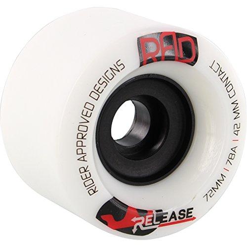 ウィール タイヤ スケボー スケートボード 海外モデル Rad Release 72mm 78a White/Black Skateboard Wheels (Set Of 4)ウィール タイヤ スケボー スケートボード 海外モデル