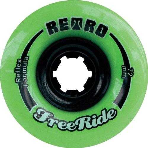 ウィール タイヤ スケボー スケートボード 海外モデル Retro Freeride 72mm 80a Lime Skateboard Wheels (Set of 4)ウィール タイヤ スケボー スケートボード 海外モデル