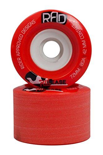 ウィール タイヤ スケボー スケートボード 海外モデル 【送料無料】RAD 72mm Release Longboard Skateboard Wheels Red R7280124ウィール タイヤ スケボー スケートボード 海外モデル