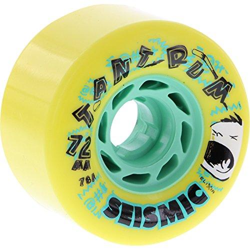 ウィール タイヤ スケボー スケートボード 海外モデル Seismic Tantrum 72mm 78a Yellow/Mint Skateboard Wheels (Set Of 4)ウィール タイヤ スケボー スケートボード 海外モデル