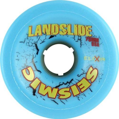 ウィール タイヤ スケボー スケートボード 海外モデル DECK Seismic Landslide 75mm 83a Blue/Yellow Skateboard Wheels (Set Of 4)ウィール タイヤ スケボー スケートボード 海外モデル DECK