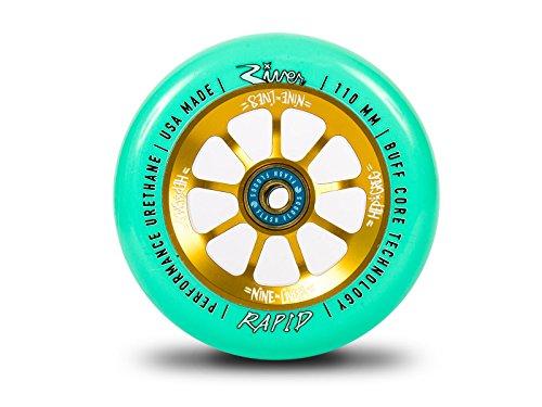 ウィール タイヤ スケボー スケートボード 海外モデル River Rapid 110mm Greg Cohen Nine Lives Signature Wheel Gold/Mint (Pair)ウィール タイヤ スケボー スケートボード 海外モデル