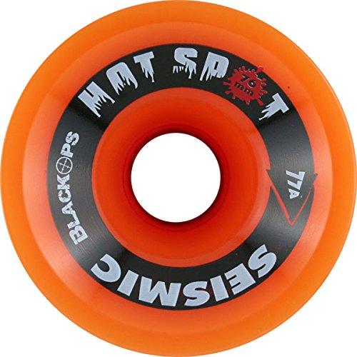 ウィール タイヤ スケボー スケートボード 海外モデル DECK Seismic Hot Spot 76mm 77a Trans Orange/Red Longboard Wheels (Set Of 4)ウィール タイヤ スケボー スケートボード 海外モデル DECK