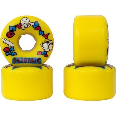 ウィール タイヤ スケボー スケートボード 海外モデル Seismic Cry Baby 64mm Longboard Wheels (Yellow 80a)ウィール タイヤ スケボー スケートボード 海外モデル