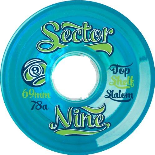 ウィール タイヤ スケボー スケートボード 海外モデル 69NB784-Blue Sector 9 Top Self Nine Balls Skateboard Wheel, Blue, 69mm 78Aウィール タイヤ スケボー スケートボード 海外モデル 69NB784-Blue