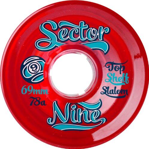 ウィール タイヤ スケボー スケートボード 海外モデル 69NB784-Red Sector 9 Top Shelf Nine Balls Skateboard Wheel, Red, 69mm 78Aウィール タイヤ スケボー スケートボード 海外モデル 69NB784-Red