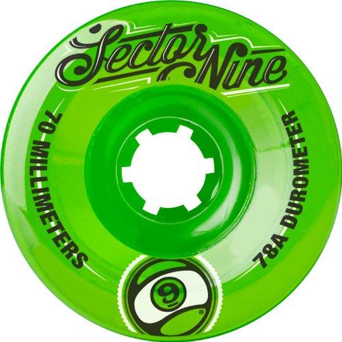 ウィール タイヤ スケボー スケートボード 海外モデル 70TS784-Green Sector 9 Top Shelf Nine Balls Skateboard Wheel, Green, 70mm 78A (Pack of 4)ウィール タイヤ スケボー スケートボード 海外モデル 70TS784-Green