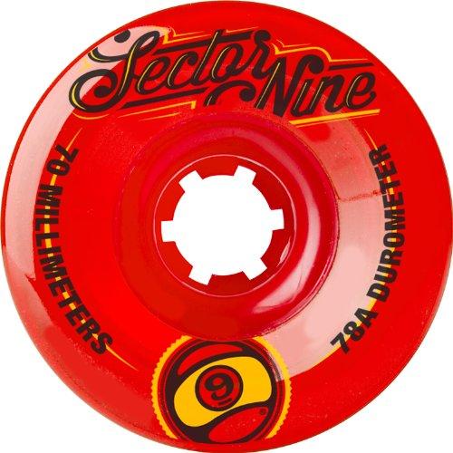 ウィール タイヤ スケボー スケートボード 海外モデル 70TS784-Red Sector 9 Top Shelf Nine Balls Skateboard Wheel, Red, 70mm 78A (Pack of 4)ウィール タイヤ スケボー スケートボード 海外モデル 70TS784-Red