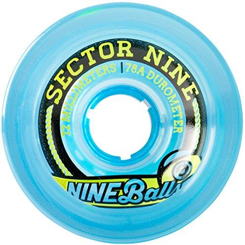 ウィール タイヤ スケボー スケートボード 海外モデル 72TS754-Blue Sector 9 Top Self Nine Balls Skateboard Wheel, Blue, 72mm 75Aウィール タイヤ スケボー スケートボード 海外モデル 72TS754-Blue