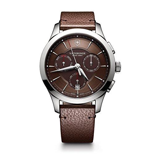 腕時計 ビクトリノックス スイス メンズ 【送料無料】Victorinox Men's Alliance Stainless Steel Swiss-Quartz Watch with Leather Strap, Brown, 21 (Model: 241749)腕時計 ビクトリノックス スイス メンズ