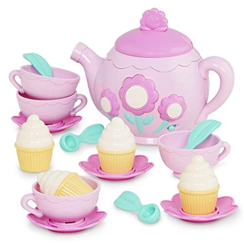 ちいさなプリンセス ソフィア ディズニージュニア Play Circle by Battat ? La Dida Musical Tea Party Set ? 17-piece Kids Tea Party Set and Teapot with Sounds ? Plastic Tea Set for Kids Age 3 Years and ちいさなプリンセス ソフィア ディズニージュニア