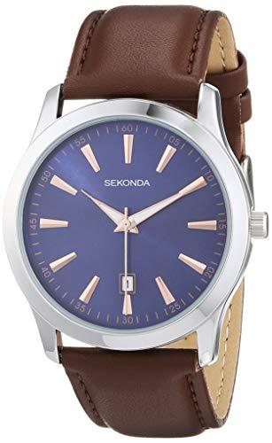 腕時計 セコンダ イギリス メンズ 【送料無料】Sekonda Mens Classic Watch with Midnight Blue Dial and Brown Leather Strap 1725腕時計 セコンダ イギリス メンズ