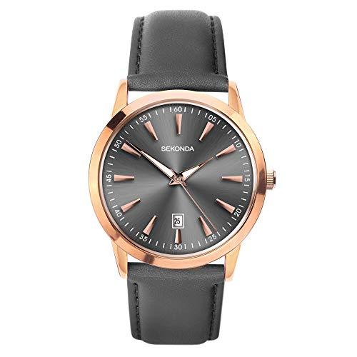 腕時計 セコンダ イギリス メンズ 【送料無料】Sekonda Mens Classic Watch with Grey Dial and Grey Leather Strap 1727腕時計 セコンダ イギリス メンズ
