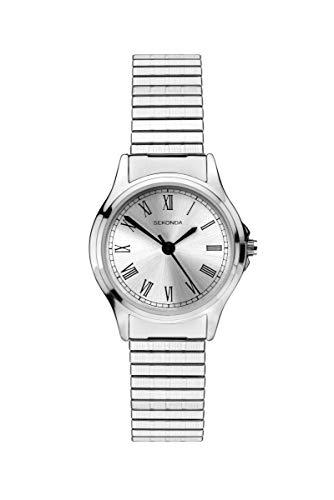 腕時計 セコンダ イギリス レディース 【送料無料】Sekonda Classic Ladies Analogue Quartz Watch with Silver Dial and Silver Expanding Bracelet 2701腕時計 セコンダ イギリス レディース